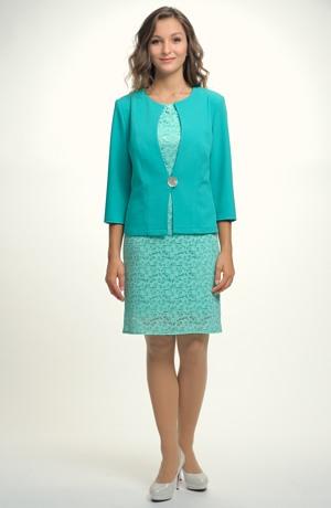 Sako dámské v módní mentolové barvě