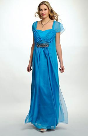 Elegantní dlouhé společenské šaty pro plnoštíhlé jsou vhodné i pro baculky, vel. 46 až 52