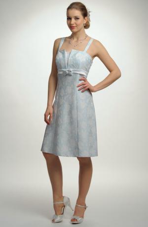 Dívčí krátké společenské šaty na ramínka v jednoduché línii. Vel. 42, 44