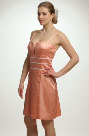 Dívčí princesové šaty na ramínka s portou a se šněrováním vzadu