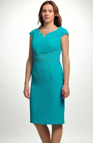 Komplet-elegantní pouzdrové šaty s kabátkem