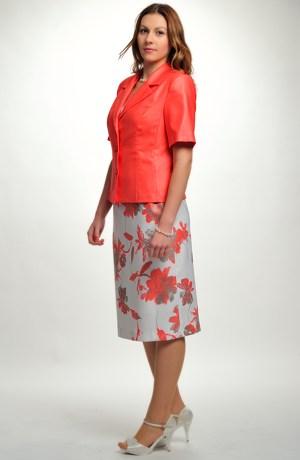 Elegantní dámský letní komplet z jemného šifonu se vzorem.