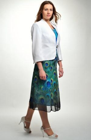 Elegantní společenské šaty velikost 50