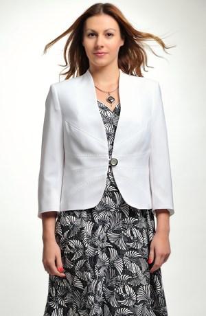 Elegantní dámské sako s paprsky švů na předním dílu