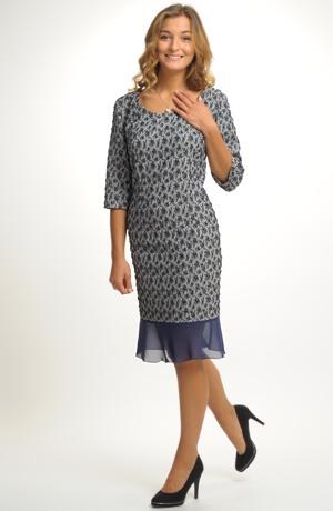 Luxusní večerní společenské šaty XXXL