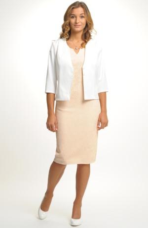 Exkluzivní dámské pouzdrové společenské šaty