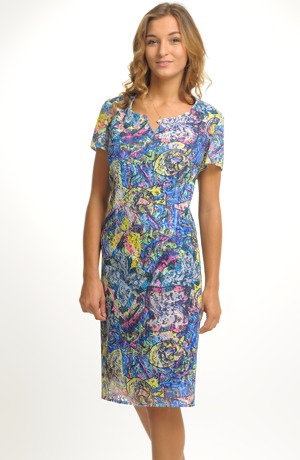 Elegantní dámské pouzdrové koktejlové šaty z krajky vel. 46, 48, 50...