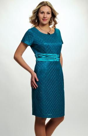 Velmi slušivé, jednoduché, elegantní dámské šaty do společnosti, vel. 42, 44, 46, i pro plnoštíhlé postavy