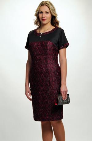 Elegantní dámské poudzdrové koktejlové šaty do sedla z elastické krajky, vel. 42, 44, 46, 48, 50