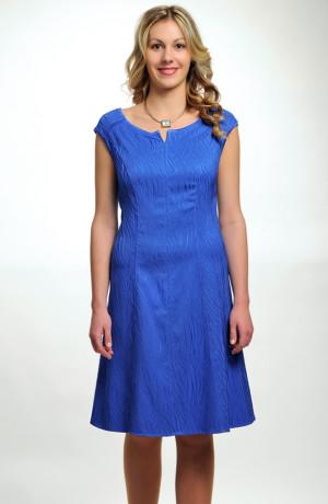Dámské elegantní společenské koktejlové šaty v jasné modré, vel. 36, 38, 40, 42, 44.