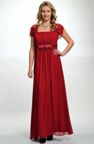 Dlouhé společenské šaty i na ples pro plnoštíhlé postavy, L až XL, vel. 44