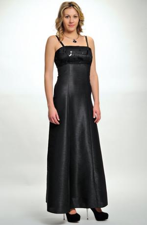 Dlouhé plesové společenské, večerní šaty s flitry, levné modely luxusních šatů, vel. 40