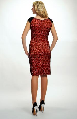 Dámské luxusní společenské koktejlové šaty z elastického materiálu s krajkou, vel. 38 až 48