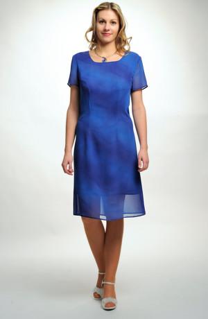 Dámské letní šaty z modré batiky - sleva pouze ve velikosti 44