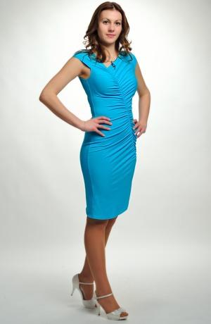 Dámské elastické koktejlky - společenské koktejlové šaty pro štíhlé ženy