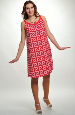 Letní dámské šaty se vzorem
