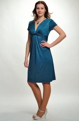 Jednoduché elegantní šaty s jemným plastickým vzorem vel. 36, 38, 40,42