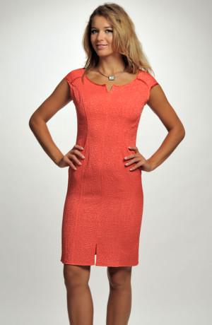 Šaty s plastickým modním vzorem krokodýlí kůže