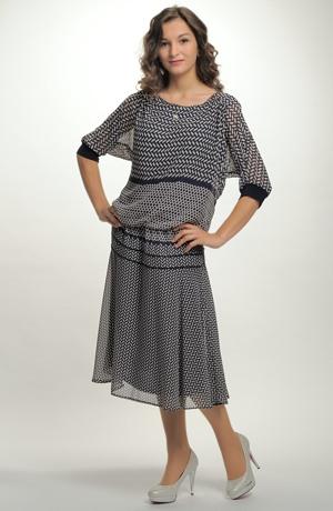 Dámské společenské šaty pro plnoštíhlé postavy. Vel. 44, 46, 48, 50