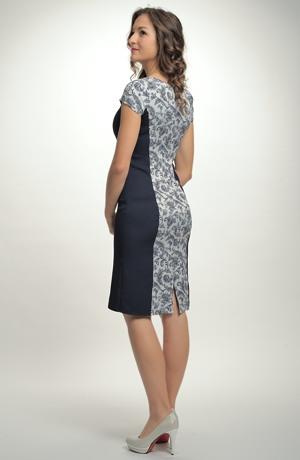 Dámské luxusní společenské koktejlové šaty z elastického materiálu vel. 38