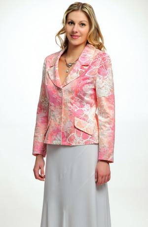 Letní sako v pastelovém vzoru