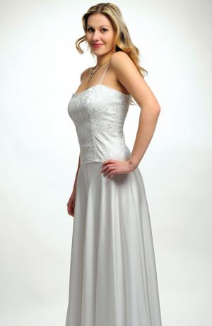 Svatební jednoduché korzetové šaty