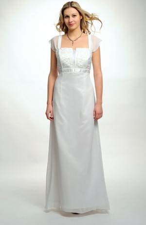 Luxusní dlouhé svatební šaty s bohatou výšivkou na sedle, vel. 38, 40, 42, 44, 46