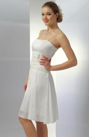 Bílé dívčí koktejlové šaty na svatbu, na převlečení