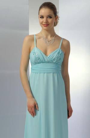 Dlouhé společenské šaty v antickém střihu a tyrkysovém odstínu, vhodné na ples i na svatbu. Vel. 36, 38, 40, 42.