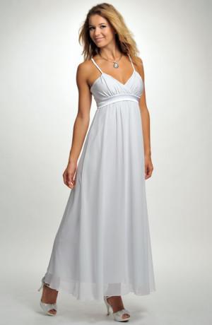 Elegantní svatební šaty s efektním jednoduchým sedlem