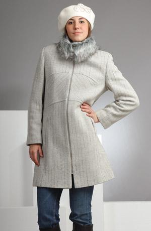 Elegantní paleto na zip zdobené zajimavým střihovým řešením.
