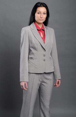 Kalhotový kostýmek je vhodný do zaměstnání, kanceláře, recepce