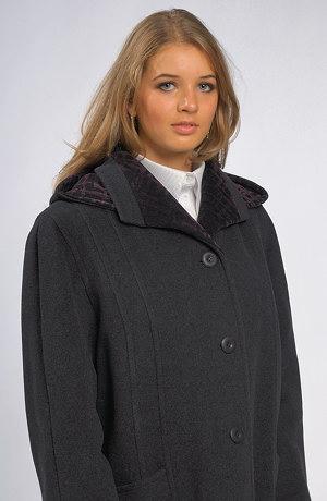 Zimní paleto s oddělávací kapucí pro větší velikosti a XXL