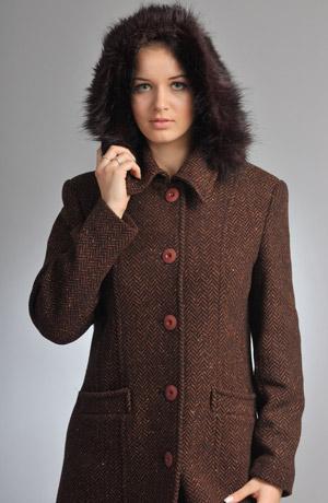 Mladistvý tříčtvrteční kabát s kapucí