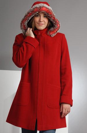 Elegantní dámské paleto na zip z lehkého italského flauše.