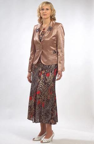 Květovaný dámský šatový kostýmek