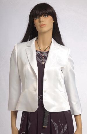 Letní modrobílý šatový komplet se sklady na sukni.