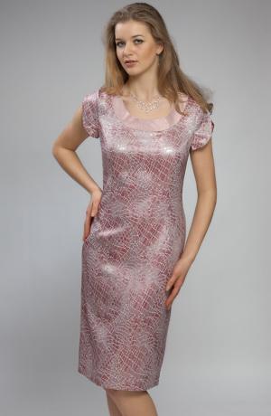 Elegantní dámský komplet z materiálu s dezénem hadí kůže.