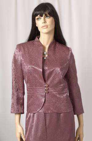Dámský společenský kostýmek, materiál s kovovým vláknem.