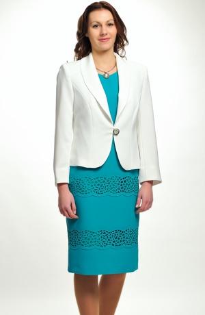 Luxusní společenské šaty s laserem vyřezávanou ozdobou