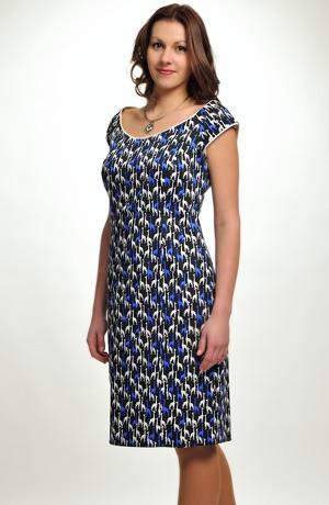 Pouzdrové krátké letní šaty s malými rukávky