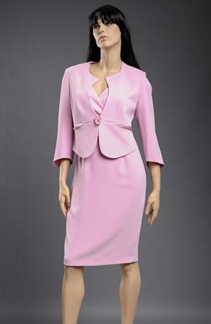 Společenské pouzdrové šaty s bolerkem ve fialkové