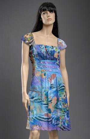 Krátké dívčí společenské šaty vhodné i pro velikost XXXL, 44, 46, 48, 50
