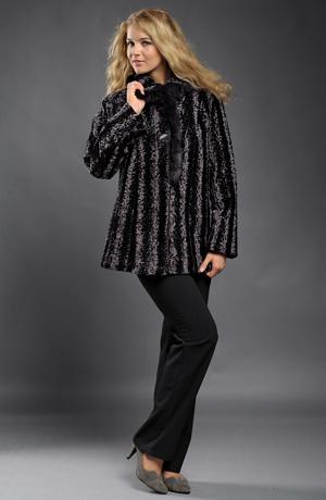 Dámský kožešinový krátký retro kabátek