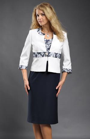 Elegantní dámský společenské pozdrovky s kabátkem
