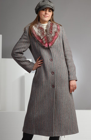 Elegantní dlouhý zimní kabát z italského materiálu.