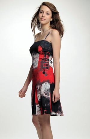 Lehké viskózové letní šaty s potiskem
