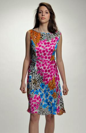 Krátké letní společenské šaty vhodné na letní společenské akce, párty, oslava, svatba. Vel. 38, 40, 42