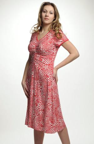 Dámské letní šaty z viskózové pleteniny