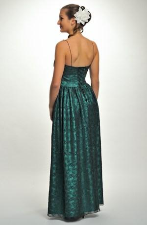 Luxusní plesové šaty korzetového střihu s řasenou sukní na stužkovací ples